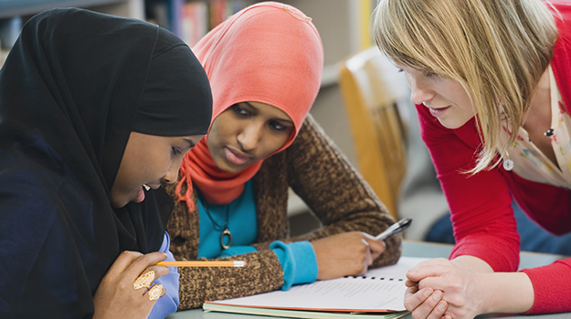 students learning English as a second language