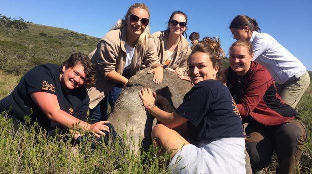Kim Houghton in Africa.