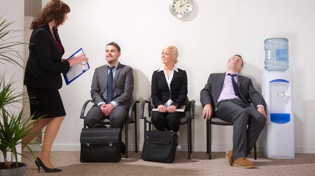 Asleep at interview