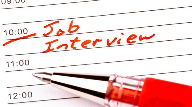 Job interview on calendar