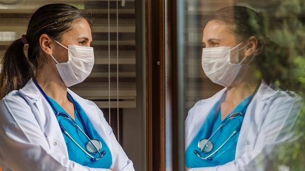 doc wearing mask