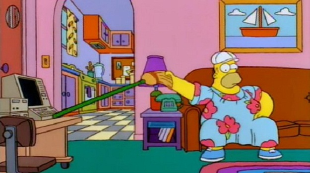 Homer Simpson took a characteristically unusual ap