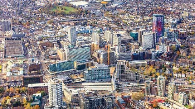 Croydon aerial view
