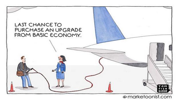 Marketoonist on upselling and customer experience