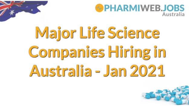 Major Life Science Companies Hiring in Australia J